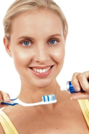 Woman Preparing to Brush Her Teeth