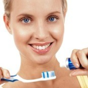 Woman Preparing to Brush Her Teeth