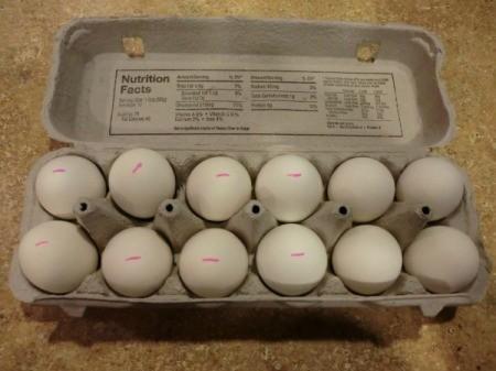 Marking Hard Boiled Eggs