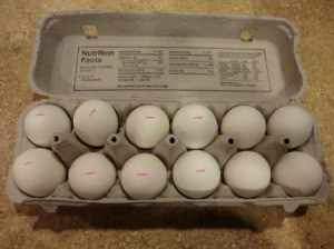 Marking Hard Boiled Eggs