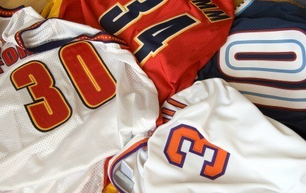 Making a Sports Jersey Quilt   ThriftyFun : quilts made from sports jerseys - Adamdwight.com
