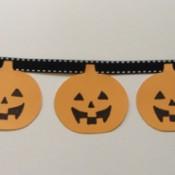 A pumpkin garland for Halloween