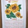 Decorated and embellished fabric calendar.