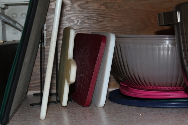 Use Upright File Storage in Kitchen
