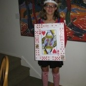 A Queen of Hearts Playing Card Costume