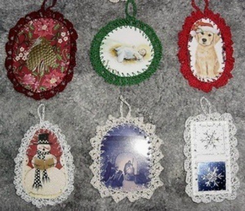 Crocheted Recycled Christmas Card Ornaments | ThriftyFun