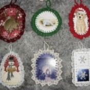 Crocheted Christmas Card Ornaments