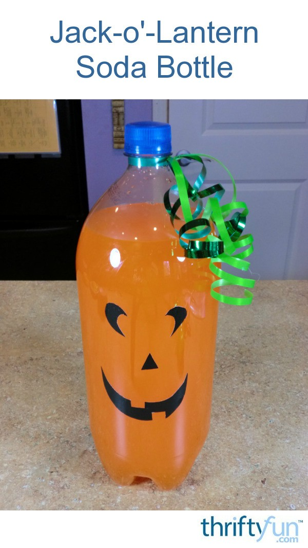 Jack O Lantern Soda Bottle Thriftyfun