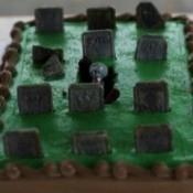 A zombie graveyard cake