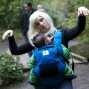 Zombie woman with baby