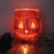 Decoupage pumpkin luminaries.
