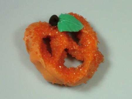 single pretzel pumpkin