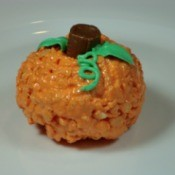 Rice Krispy Pumpkin