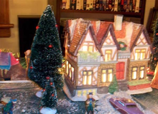 Train Village with Nativity Scene