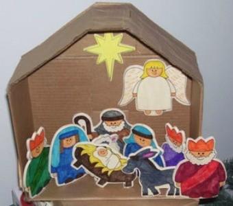 Nativity Scene from Ornaments