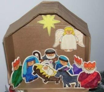 Nativity scene craft ideas thriftyfun for Scene ideas