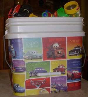 Decorated Recycled Buckets