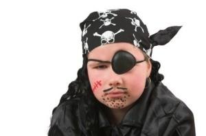 Tween Dressed as Pirate for Halloween