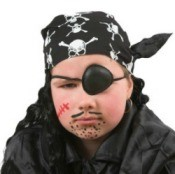 Tween Dressed as Pirate for Halloween