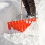 Shoveling deep snow