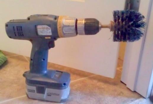 Making A Powered Scrub Brush ThriftyFun - Battery powered scrub brush