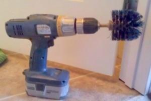 Homemade powered scrub brush.