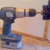 Homemade powered scrub brush.