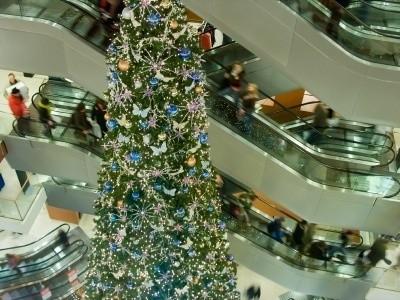 Escalators at a shopping mall