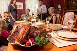 Family around the Thanksgiving table