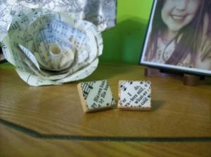 Decoupage Scrabble Tile Earrings
