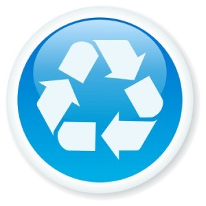 Glossy Blue Recycle Button