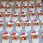 No Bake Santa Cookies