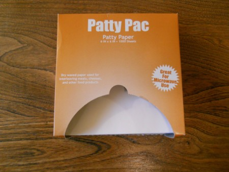 Box of patty paper.