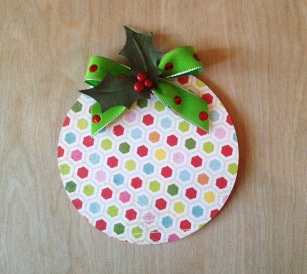 finished ornament card