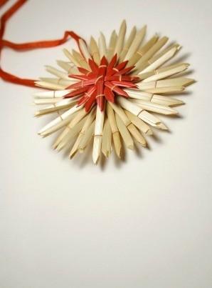 Straw Christmas Craft