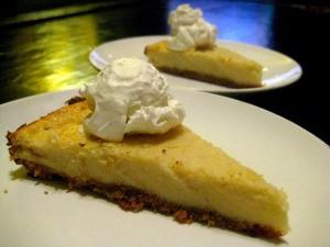 Slice of cheesecake.