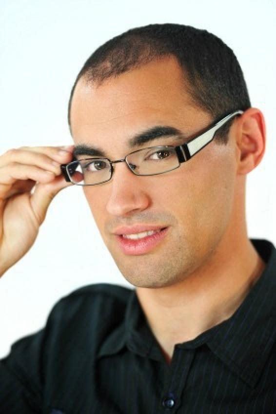 f4ecfc70c3c Man Wearing Eyeglasses