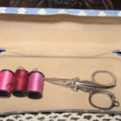 Sewing Kit from Eye Glass Case