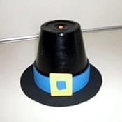 Clay pot pilgrim hat.