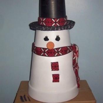 Making A Clay Pot Snowman
