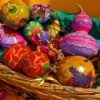 Painted gourds.