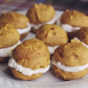Finished pumpkin whoopie pies.