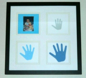 framed handprints