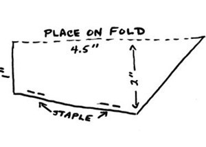 Folding and construction diagram.