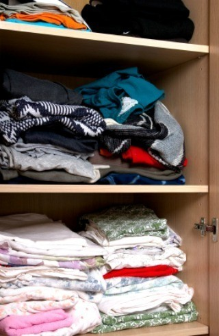 Clothing D In A Closet Having Fresh Smelling