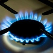 Blue Flame of Gas Stove