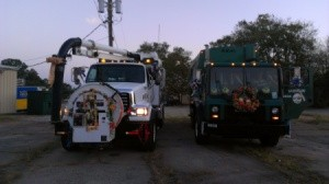 Decorating a Trash Truck for a Christmas Parade