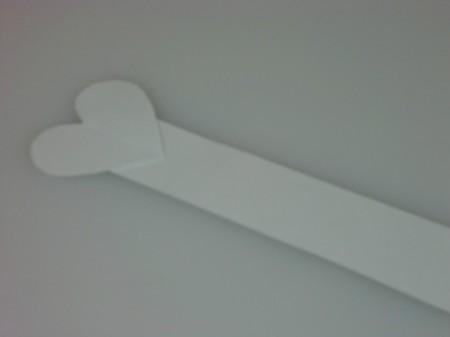 glue heart onto strip