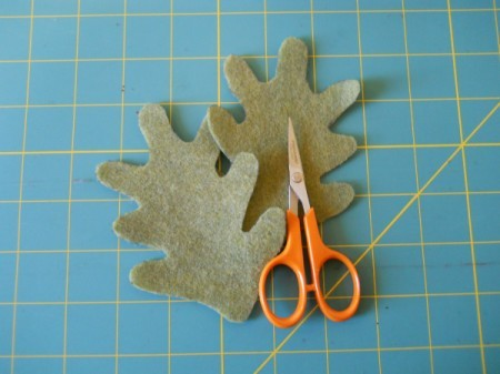 Cut leaves with scissors.