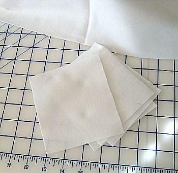 Fleece squares.